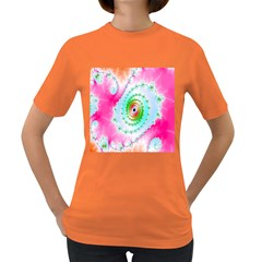 Decorative Fractal Spiral Women s Dark T-Shirt