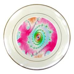 Decorative Fractal Spiral Porcelain Plates