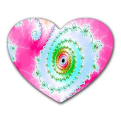 Decorative Fractal Spiral Heart Mousepads