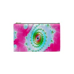 Decorative Fractal Spiral Cosmetic Bag (small)