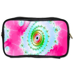 Decorative Fractal Spiral Toiletries Bags 2 Side
