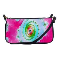 Decorative Fractal Spiral Shoulder Clutch Bags
