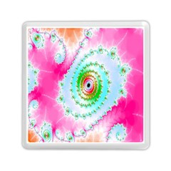 Decorative Fractal Spiral Memory Card Reader (square)