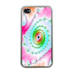 Decorative Fractal Spiral Apple iPhone 4 Case (Clear)