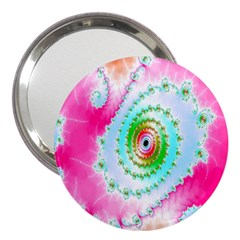 Decorative Fractal Spiral 3  Handbag Mirrors