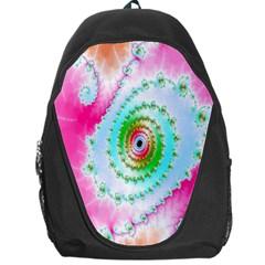 Decorative Fractal Spiral Backpack Bag