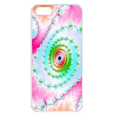 Decorative Fractal Spiral Apple iPhone 5 Seamless Case (White)
