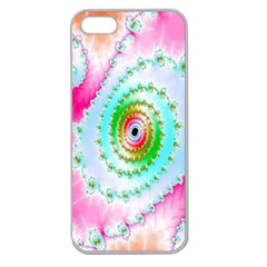 Decorative Fractal Spiral Apple Seamless iPhone 5 Case (Clear)
