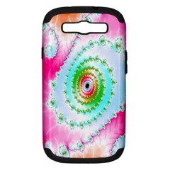 Decorative Fractal Spiral Samsung Galaxy S III Hardshell Case (PC+Silicone)