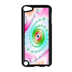 Decorative Fractal Spiral Apple iPod Touch 5 Case (Black)