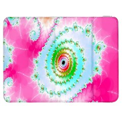 Decorative Fractal Spiral Samsung Galaxy Tab 7  P1000 Flip Case