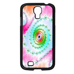 Decorative Fractal Spiral Samsung Galaxy S4 I9500/ I9505 Case (Black)