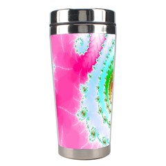 Decorative Fractal Spiral Stainless Steel Travel Tumblers