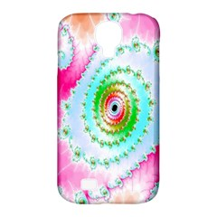 Decorative Fractal Spiral Samsung Galaxy S4 Classic Hardshell Case (PC+Silicone)