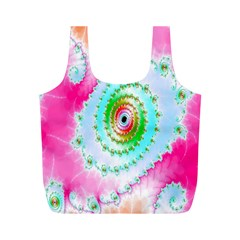Decorative Fractal Spiral Full Print Recycle Bags (m)