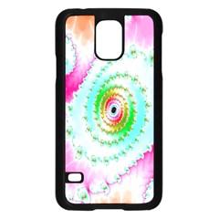 Decorative Fractal Spiral Samsung Galaxy S5 Case (Black)