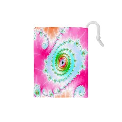 Decorative Fractal Spiral Drawstring Pouches (Small)