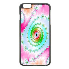 Decorative Fractal Spiral Apple Iphone 6 Plus/6s Plus Black Enamel Case