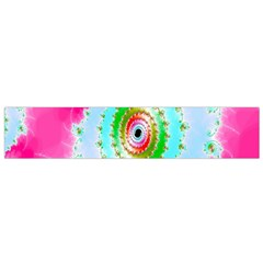 Decorative Fractal Spiral Flano Scarf (Small)