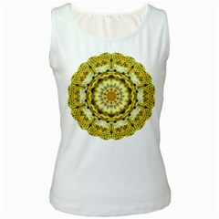 Fractal Flower Women s White Tank Top