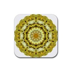 Fractal Flower Rubber Coaster (square)