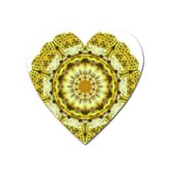 Fractal Flower Heart Magnet