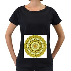 Fractal Flower Women s Loose-Fit T-Shirt (Black)