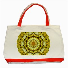 Fractal Flower Classic Tote Bag (Red)