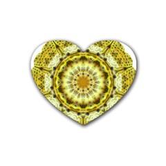 Fractal Flower Heart Coaster (4 pack)