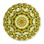 Fractal Flower Round Filigree Ornament (Two Sides) Back