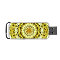 Fractal Flower Portable Usb Flash (two Sides)