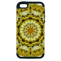 Fractal Flower Apple iPhone 5 Hardshell Case (PC+Silicone)