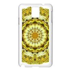 Fractal Flower Samsung Galaxy Note 3 N9005 Case (White)