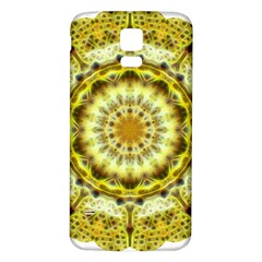 Fractal Flower Samsung Galaxy S5 Back Case (white)