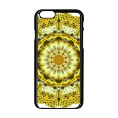 Fractal Flower Apple Iphone 6/6s Black Enamel Case