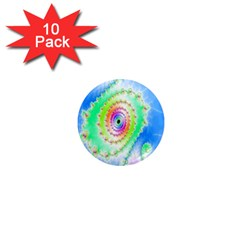 Decorative Fractal Spiral 1  Mini Magnet (10 Pack)