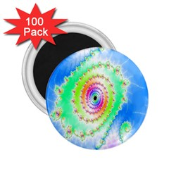 Decorative Fractal Spiral 2 25  Magnets (100 Pack)