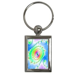 Decorative Fractal Spiral Key Chains (rectangle)