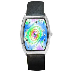 Decorative Fractal Spiral Barrel Style Metal Watch