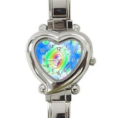 Decorative Fractal Spiral Heart Italian Charm Watch