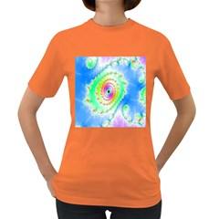 Decorative Fractal Spiral Women s Dark T Shirt