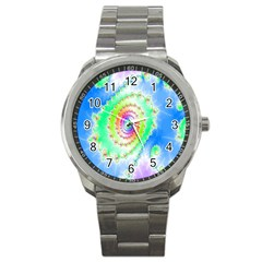 Decorative Fractal Spiral Sport Metal Watch