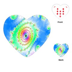 Decorative Fractal Spiral Playing Cards (Heart)