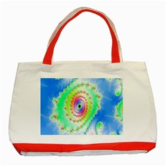 Decorative Fractal Spiral Classic Tote Bag (Red)