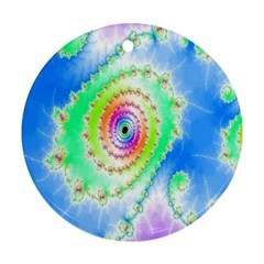 Decorative Fractal Spiral Round Ornament (two Sides)