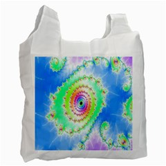 Decorative Fractal Spiral Recycle Bag (two Side)