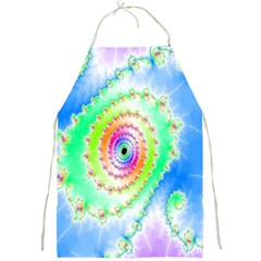 Decorative Fractal Spiral Full Print Aprons