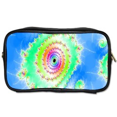 Decorative Fractal Spiral Toiletries Bags
