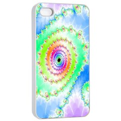 Decorative Fractal Spiral Apple iPhone 4/4s Seamless Case (White)