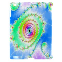 Decorative Fractal Spiral Apple iPad 3/4 Hardshell Case (Compatible with Smart Cover)